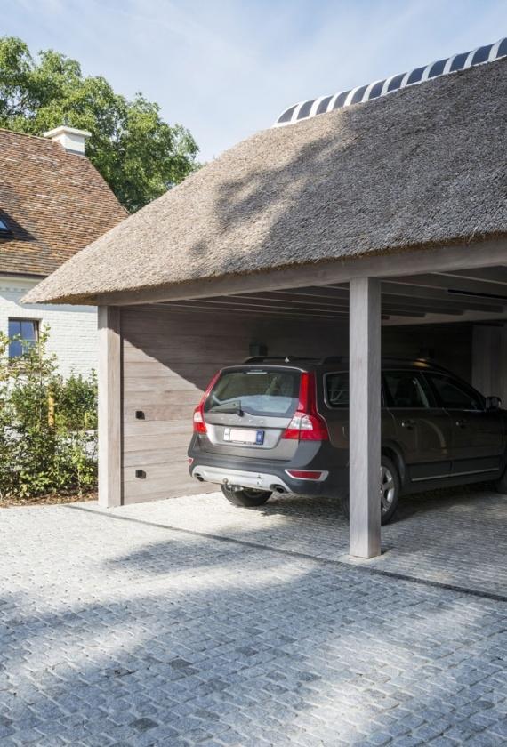 Carport - Carports - Houten carport met strodak - houten carport met ...