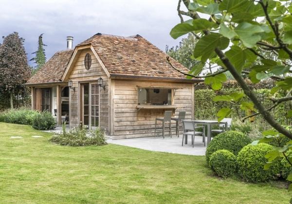 engels schuurtje tuinhuis cottage stijl authentieke