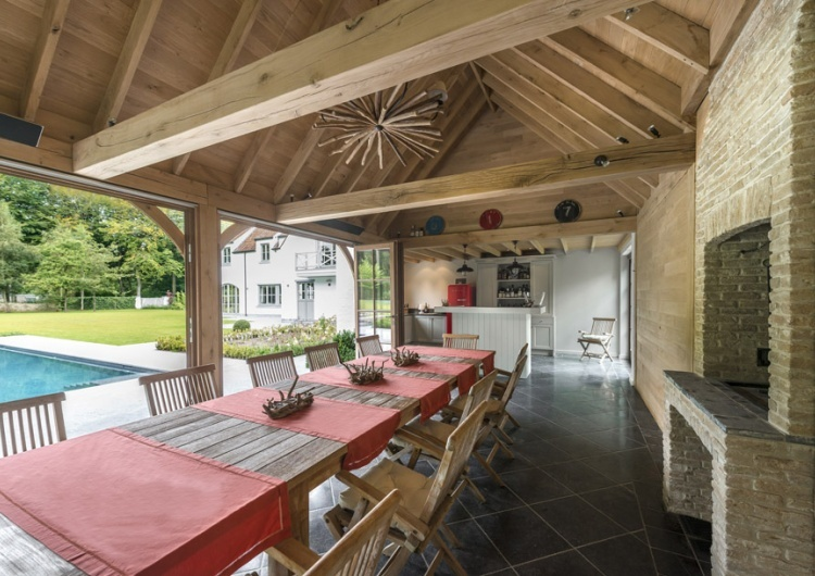 Woodarts - Een poolhouse plaatsen