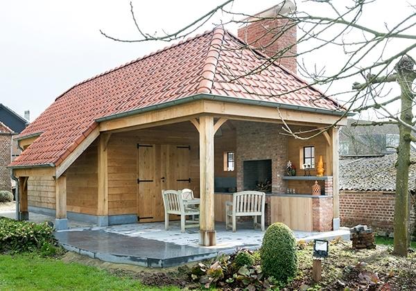 Landelijke bijgebouwen poolhouses tuinhuizen of garages for Kostprijs zwembad plaatsen