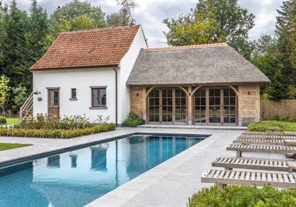 Landelijke bijgebouwen, poolhouses, tuinhuizen of garages in hout ...