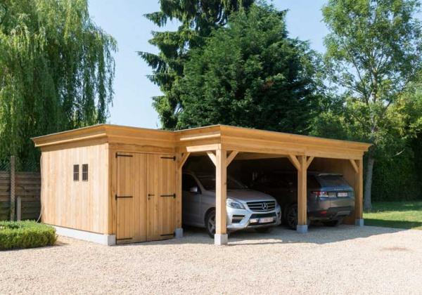 Carports En Garages Op Maat Carport Plaatsen Carports Garages West Vlaanderen Oost Vlaanderen Tuinhuis Tuinhuizen Tuinhuis Plaatsen Eiken Bijgebouw Carports Wood Arts